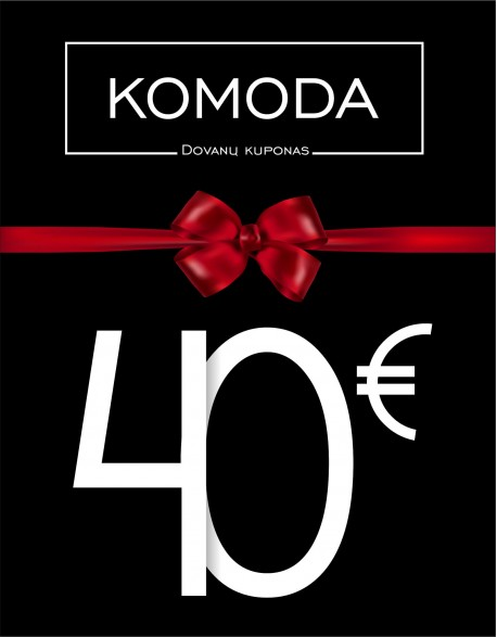 Keturiasdešimties eurų vertės dovanų kuponas
