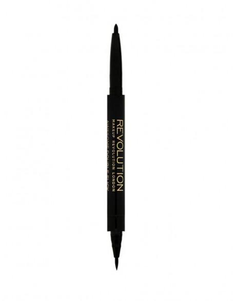 """Makeup Revolution akių kontūravimo pieštukas """"Doul Felt&Kohl Black"""""""