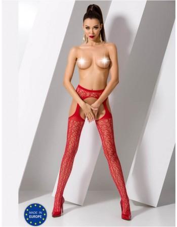 "Stockings with belt ""Romija red"""
