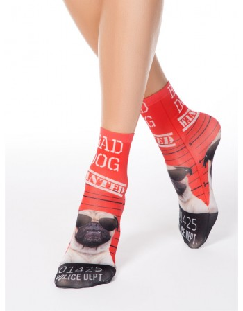 "Women's socks ""Fantasy Red"""