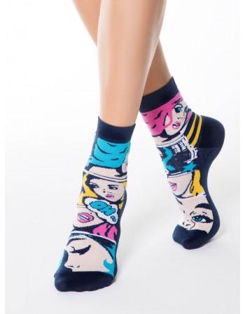 """Women's socks """"Happy Blue Power"""""""