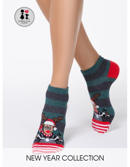 """Moteriškos Kojinaitės """"Funny Christmas Deer"""""""