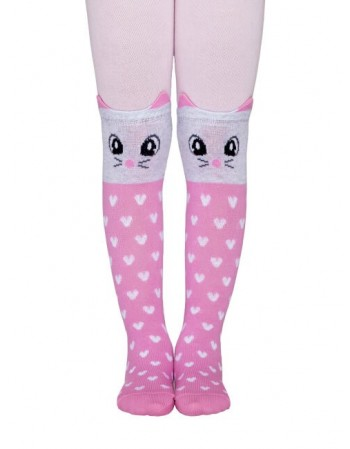 "Tights for children ""Pink Cat"""