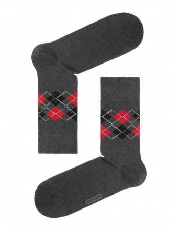 "Men's Socks ""Happy Dark Grey"""