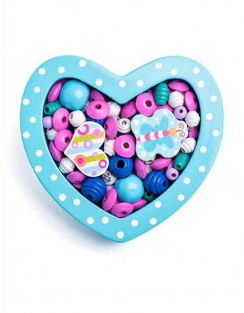 "Mini Bead Set ""Heart light blue"""