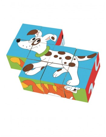 "Cube Puzzle ""Coloring Animals"""