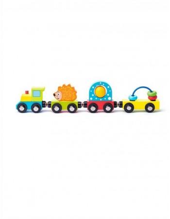 """Medinis vaikiškas traukinukas """"Ežiukas"""""""