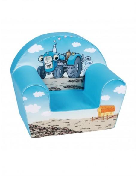 """Vaikiškas mėlynas foteliukas - """"Traktorius"""""""