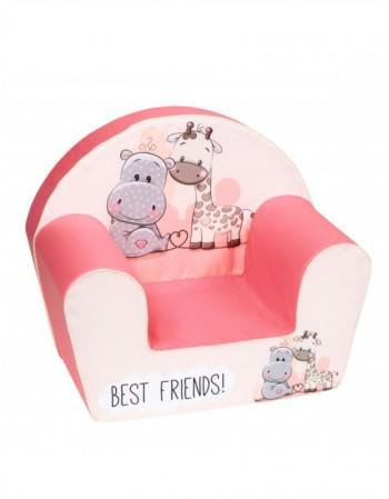 """Vaikiškas fotelis """"Geriausi draugai"""""""