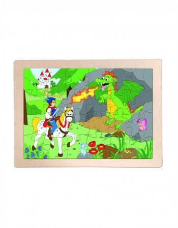 "Wooden puzzle ""Prince and Dragon"""