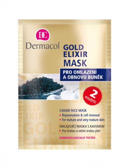 "Veido Kaukė ""Dermacol"" Gold elixir 16 ml"