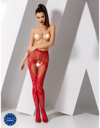 "Stockings with belt ""Lana Red"""