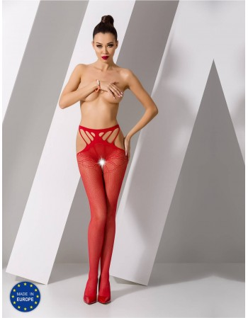 "Stockings with belt ""Laura Red"""