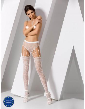 "Stockings with belt ""Sara White"""