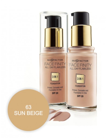 Kreminė pudra Max Factor Facefinity All Day Flawless 3in1 63 Sun Beige