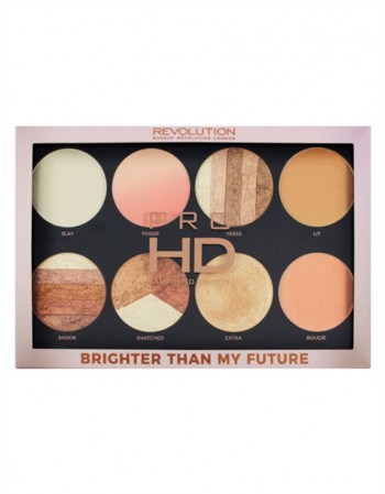 Švytėjimo suteikianti pudros paletė MakeUp Revolution Pro HD Brighter than My Future