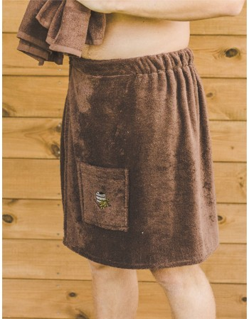 "Men's bath apron ""Brown"""