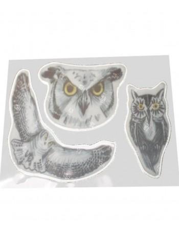 """Atšvaitai - lipdukai """"Owl"""" 3vnt"""
