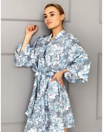 """Satino Kimono """"Ledo raštai"""""""