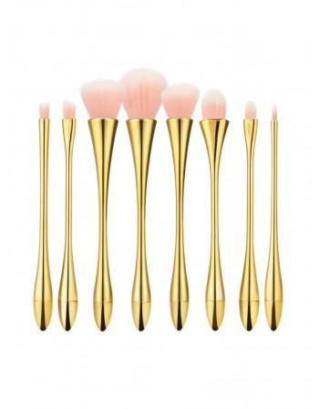 Makiažo teptukų rinkinys TB 8vnt Pink Gold