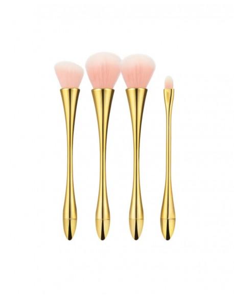 Makiažo teptukų rinkinys TB 4vnt Pink Gold