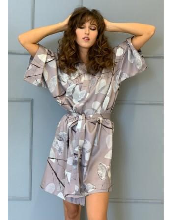 """Satino kimono """"Gėlėtas sapnas"""""""