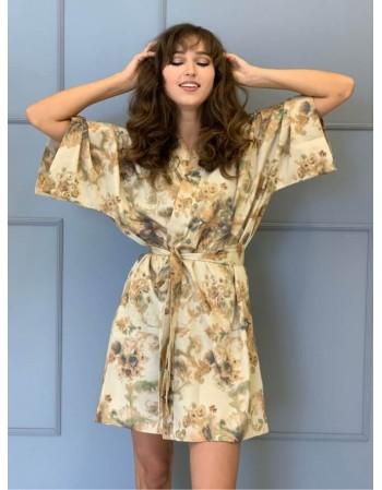 """Satino kimono """"Rudeninė puokštė"""""""