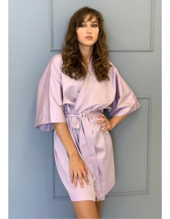 "Satino kimono ""Alyvos"""
