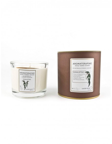 """Aromaterapinė žvakė """"Eukaliptas"""""""