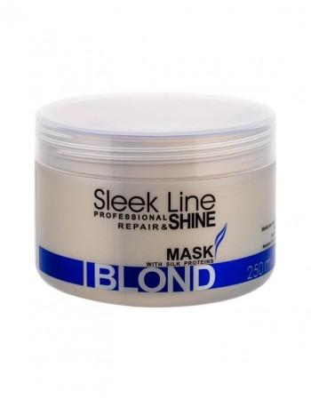 Plaukų Kaukė SLEEK LINE Blond, 250 Ml Regeneruojanti