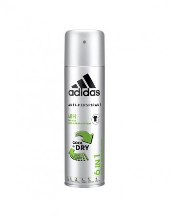 V.Antiperspirantas ADIDAS 6in1 Total protection, 150ml