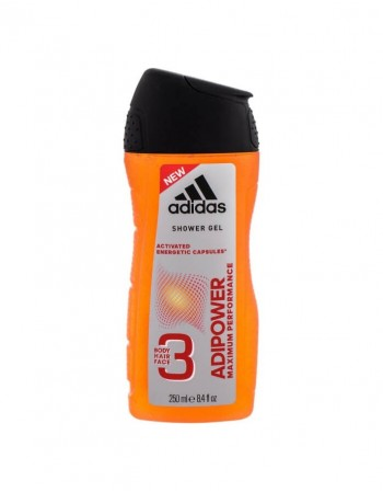 Dušo želė ADIDAS Adipower maximum performance, 250 ml