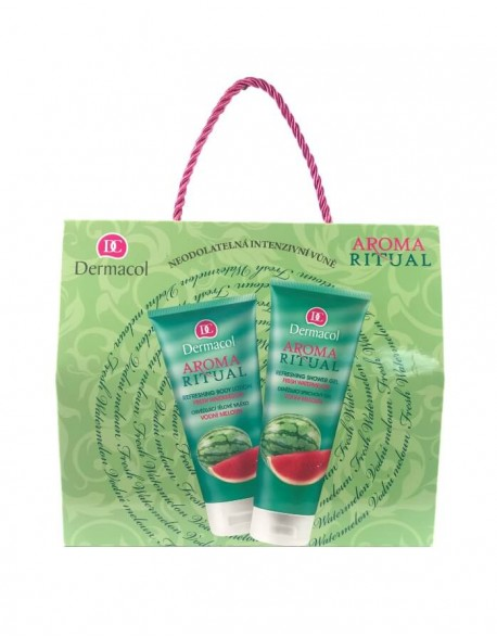 Rinkinys DERMACOL Aroma Ritual, Watermelon, shower gel 250 ml + body lotion 200 ml