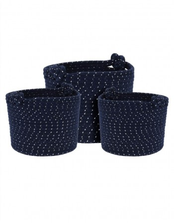 "Storage Bag Set ""Knot Blue"""