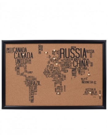 "Board Map ""Whole World"" Brown"