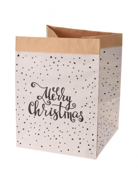 """Popierinis Krepšys """"Merry Christmas"""", 20 cm"""