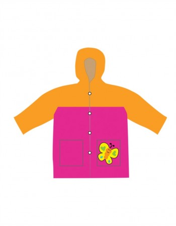 "Baby Raincoat ""Orange Butterfly"""