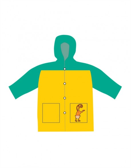 "Vaikiškas Lietpaltis ""Yellow Monkey"""