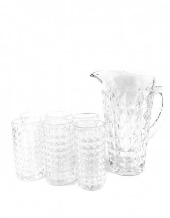 "Glass Set With Jug ""Fjell"""