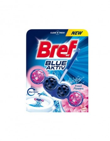"Tualeto Gaiviklis ""BREF Blue Active - Fresh Flower"", 50 g"