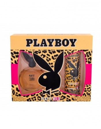 "Rinkinys Jai PLAY BOY ""Play It Wild"" EDT 90 ml+Deodorant 150 ml"