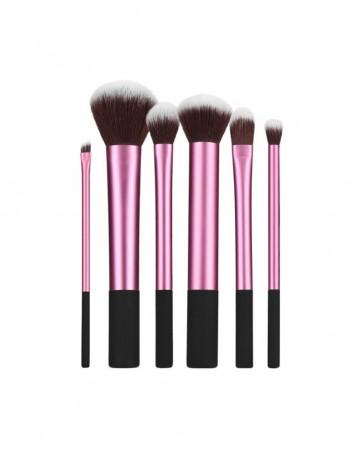 "Makiažo Šepetėlių Rinkinys TB ""Make-Up Brush Pink/Black"", 6 vnt."