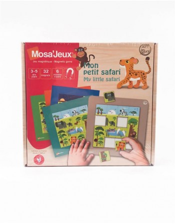 "Magnetinė Mozaika MOSA JEUX ""Safaris"", 32 detalės"