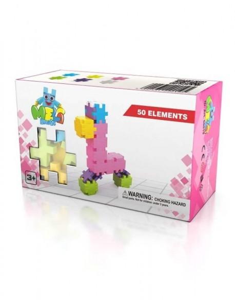 Edukacinis Žaidimas MELI BASIC, Pink, 50 detalių