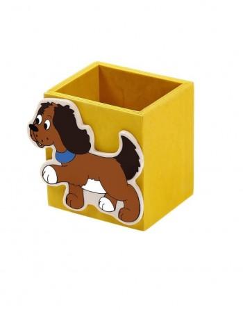 """Vaikiška Medinė Pieštukinė """"Yellow Dog"""""""