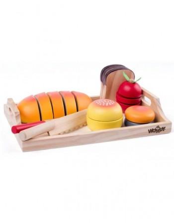 """Edukacinis Žaidimas """"Full Breakfast Tray-cuting"""", 19 detalių"""