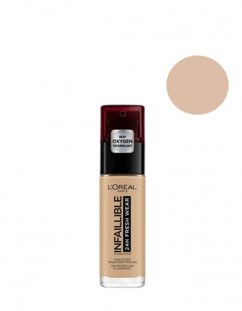 "Kreminė Pudra L'OREAL ""Infallible 24h Fresh Wear"", 220 Sand, 30ml"