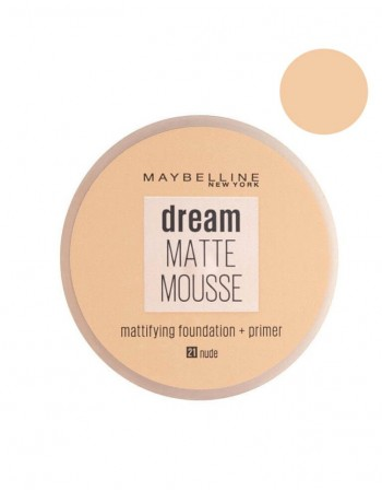 "Makiažo Pagrindas MAYBELLINE ""Dream Matte Mousse"", 21 Nude, 18ml"