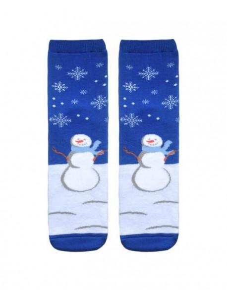"""Moteriškos kojinės """"Happy Snow Man"""""""