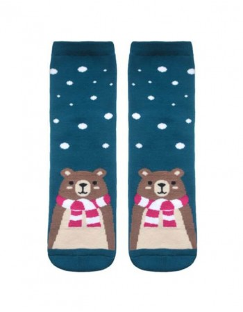 "Women's socks ""Bear in Snowflakes"""